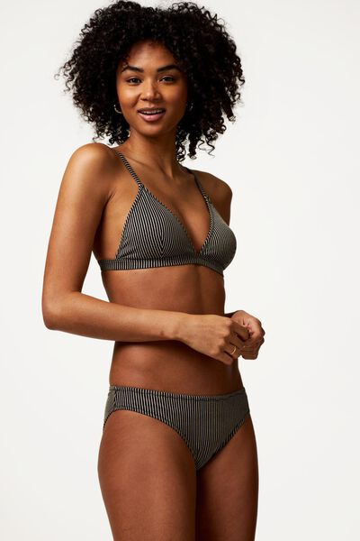 dames bikinitop zonder beugel - glitter zwart zwart - 1000023602 - HEMA