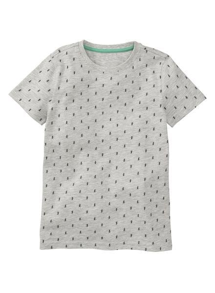 kinder t-shirt grijsmelange - 1000006677 - HEMA