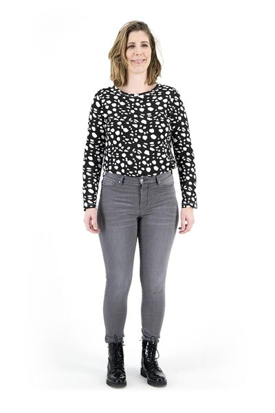 dames jeans - shaping skinny fit middengrijs 40 - 36337536 - HEMA