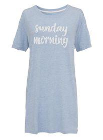 dames nacht t-shirt felblauw felblauw - 1000002906 - HEMA