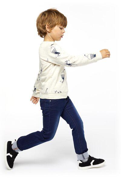 kinderjeans skinny fit donkerblauw donkerblauw - 1000014287 - HEMA