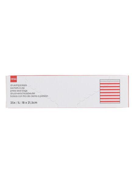 25-pak drukstripzakjes 1 L - 20500017 - HEMA