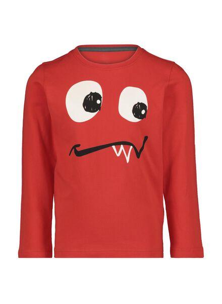 kinderpyjama 'glow' rood rood - 1000014963 - HEMA