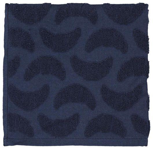 keukendoek 50x50 katoen - blauw croissant - 5400061 - HEMA