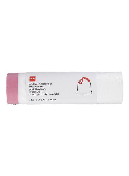 15-pak pedaalemmerzakken 30 L - 20550021 - HEMA