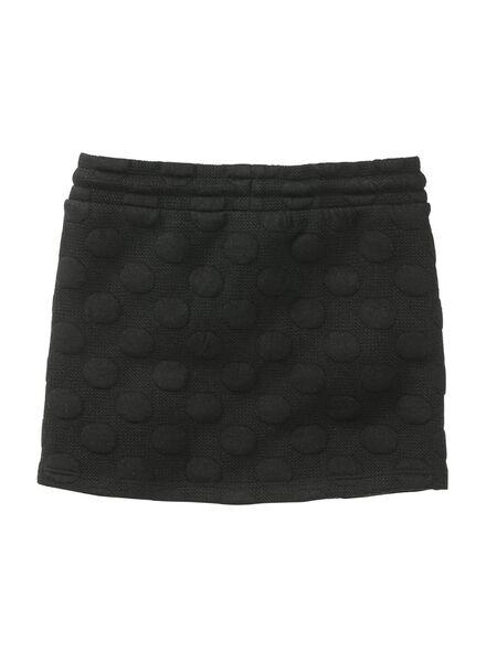 kinder sweat rok zwart zwart - 1000011145 - HEMA