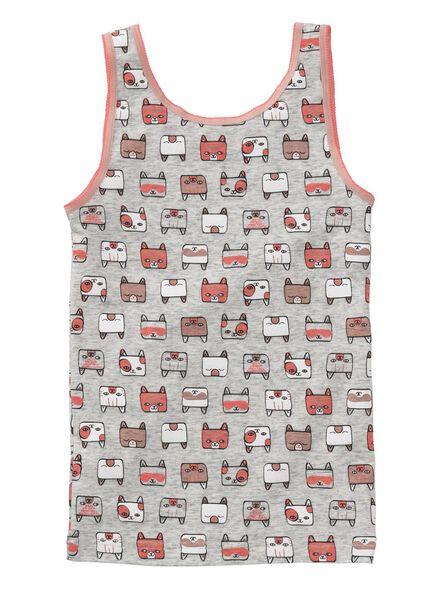 2-pak kinderhemden - roze-grijs lichtroze lichtroze - 1000008956 - HEMA