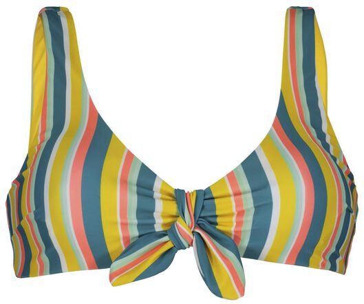 dames bikinitop zonder beugel - strepen multicolor multicolor - 1000023324 - HEMA