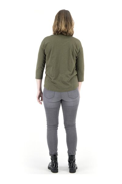 dames t-shirt olijf S - 36397230 - HEMA