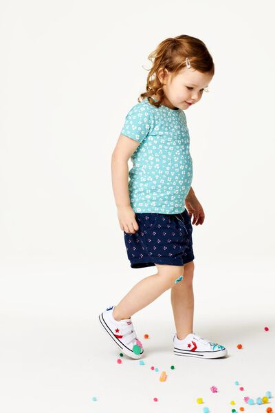 kinder t-shirt blauw blauw - 1000023242 - HEMA