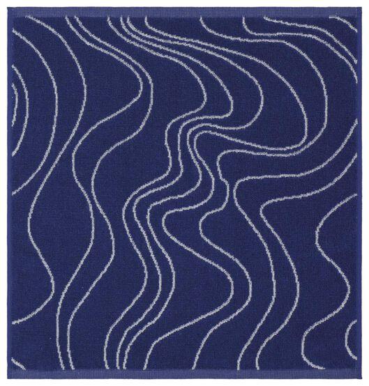 keukendoek - 50 x 50 - katoen - blauw golven - 5490030 - HEMA