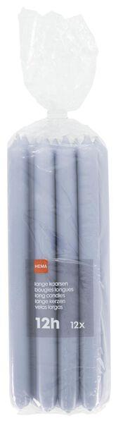 huishoudkaarsen - 28 cm - 12 stuks - lichtblauw - 13502543 - HEMA