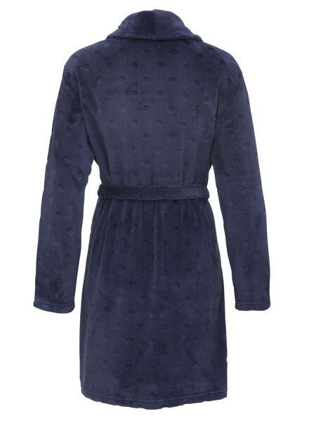 dames badjas fleece donkerblauw donkerblauw - 1000011784 - HEMA