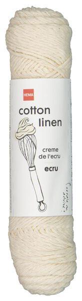brei en haakgaren katoen/linnen 50gr/83m ecru ecru cotton linen - 1400198 - HEMA