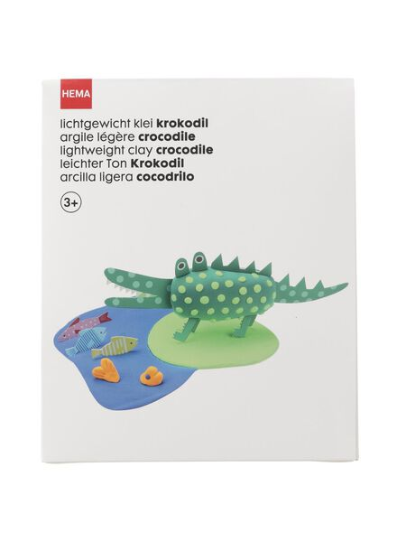 lichtgewicht klei krokodil - 15980156 - HEMA