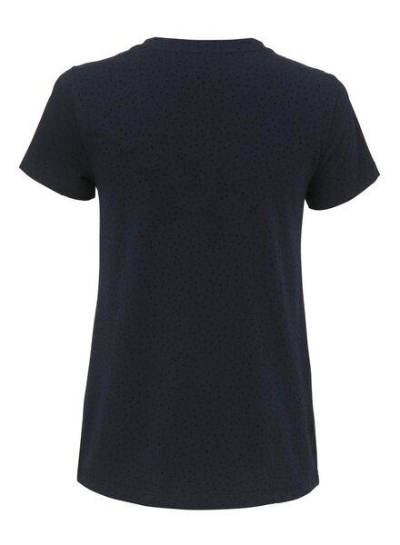 dames t-shirt donkerblauw donkerblauw - 1000009558 - HEMA