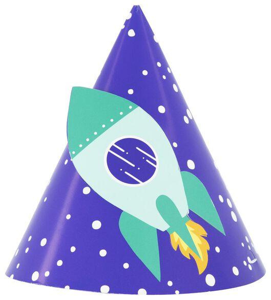 feesthoedjes papier space - 6 stuks - 14210152 - HEMA