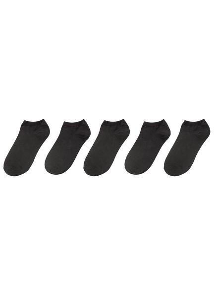 5-pak sneakersokken zwart 43/46 - 4199238 - HEMA