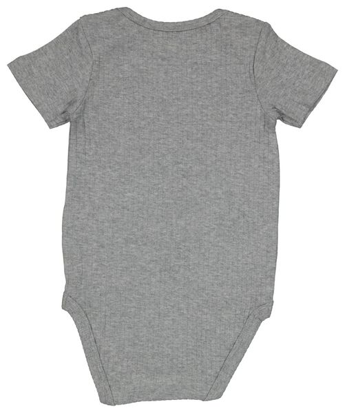 romper met bamboe stretch rib grijsmelange grijsmelange - 1000022905 - HEMA
