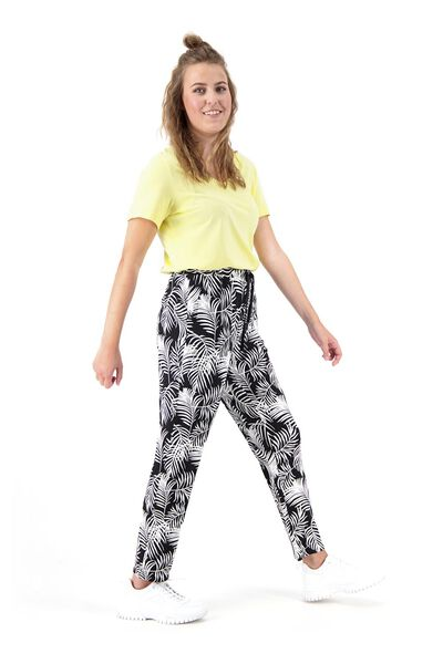dames t-shirt met bamboe geel XL - 36357173 - HEMA