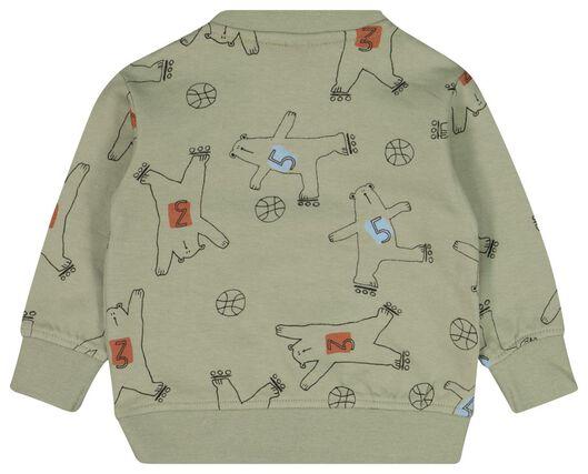 babysweater beren olijf olijf - 1000022148 - HEMA