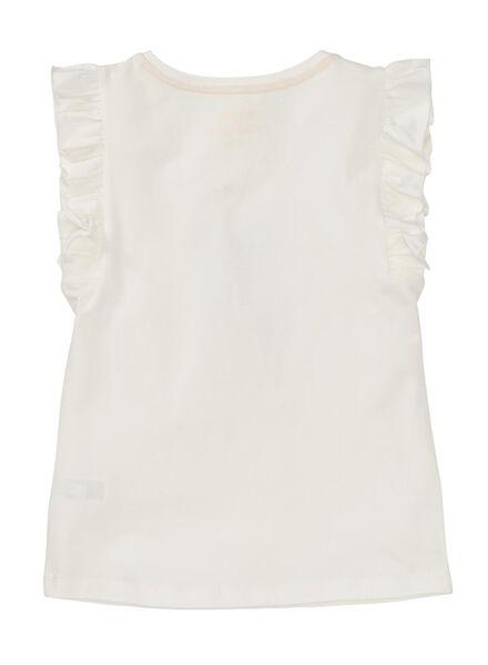 kinder t-shirt gebroken wit gebroken wit - 1000008025 - HEMA