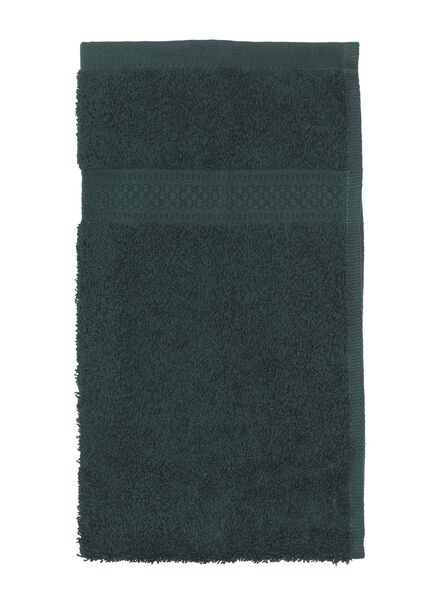 handdoek - zware kwaliteit - donkergroen - 5220012 - HEMA