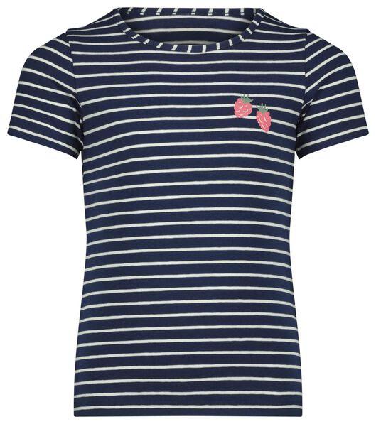 kinder t-shirt stripes blauw - 1000023615 - HEMA
