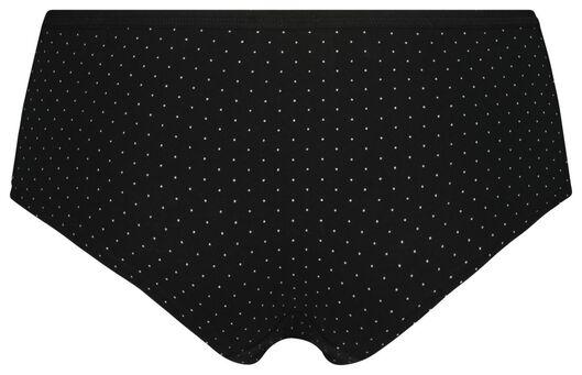 dameshipster stippen zwart XL - 19698764 - HEMA