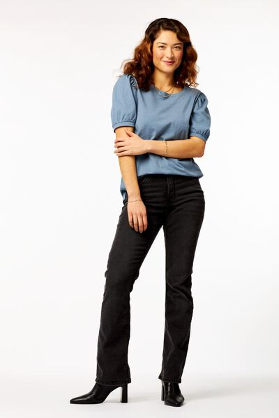 dames t-shirt pofmouw blauw blauw - 1000023727 - HEMA