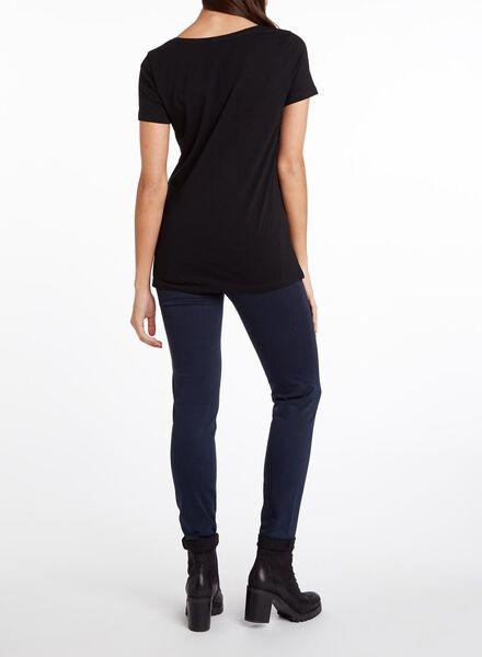 dames t-shirt zwart XL - 36301760 - HEMA