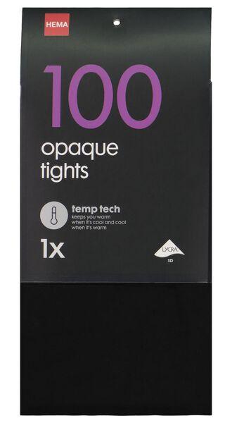 panty temperatuurregulerend 100denier zwart zwart - 1000001120 - HEMA