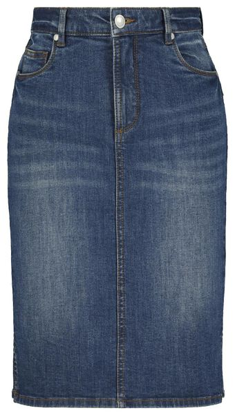 damesrok denim shaping fit blauw blauw - 1000022987 - HEMA