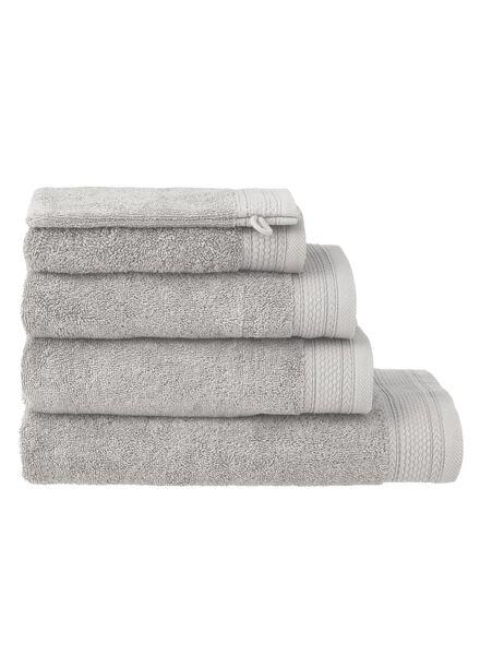 handdoeken - hotel extra zwaar lichtgrijs lichtgrijs - 1000015154 - HEMA
