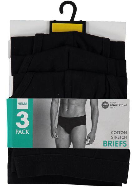 3-pak heren slips zwart zwart - 1000001227 - HEMA