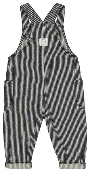 baby jumpsuit strepen denim denim - 1000022322 - HEMA