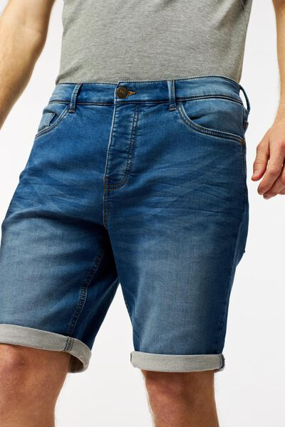herenshort jog denim blauw blauw - 1000023611 - HEMA