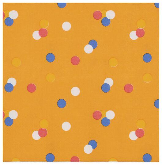 servetten - 33 x 33 - papier - oranje - 20 stuks - 25200005 - HEMA