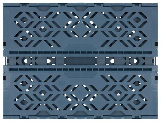 klapkrat recycled 30x40x15 - donkerblauw - 39821051 - HEMA