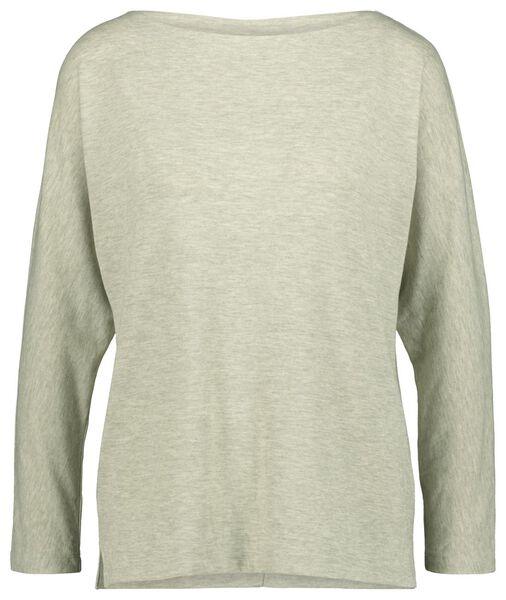 dames t-shirt lichtgroen lichtgroen - 1000021465 - HEMA
