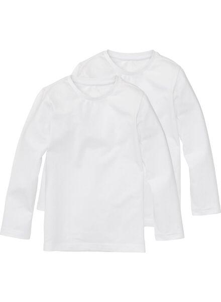 2-pak kinder t-shirt - biologisch katoen wi wi - 1000003427 - HEMA