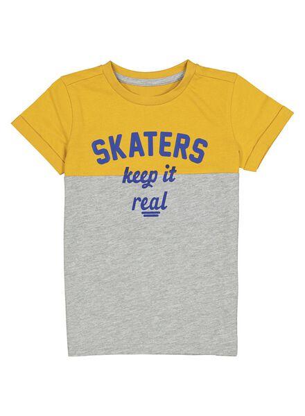 kinder t-shirt geel geel - 1000013772 - HEMA
