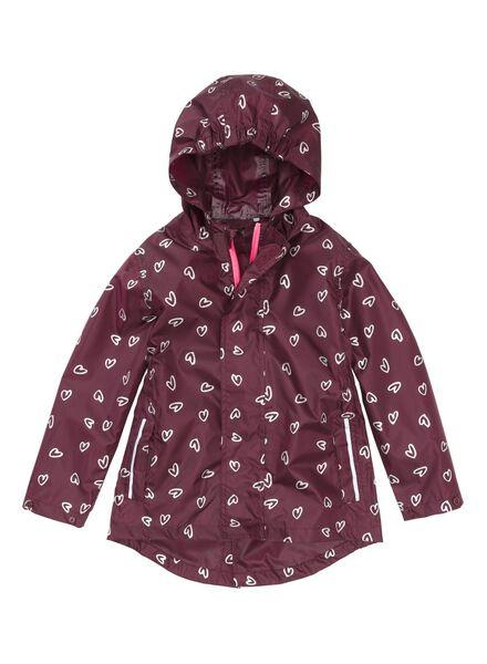 opvouwbare kinderregenjas rood rood - 1000006269 - HEMA
