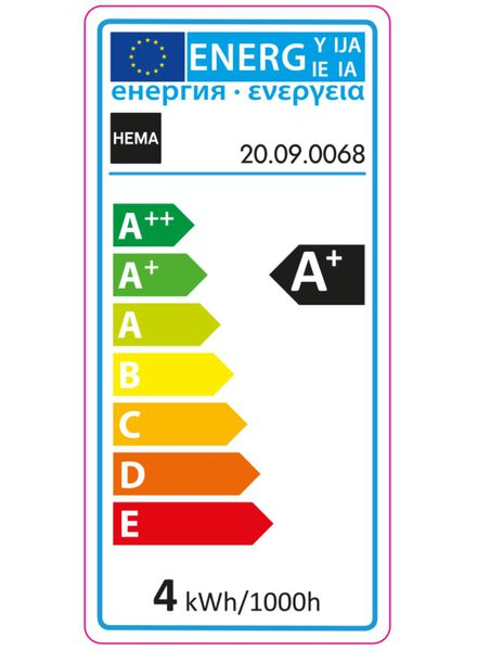 LED structuurlamp 4 watt - grote fitting - 300 lumen - 20090068 - HEMA