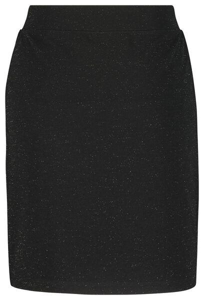 damesrok glitter zwart zwart - 1000021699 - HEMA