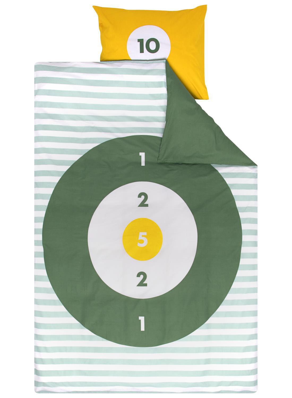 HEMA Kinderdekbedovertrek – 140 X 200 Cm – Balgooispel Groen (groen)