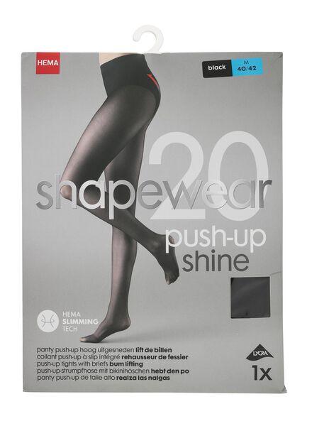 push-up panty 20 denier zwart zwart - 1000000936 - HEMA