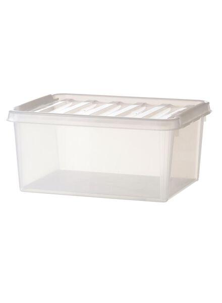 opbergbox 21 x 17 x 15 cm 21 x 17 x 15 transparant - 39829658 - HEMA