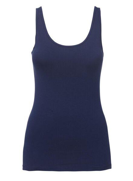 dameshemd katoen donkerblauw XL - 19600585 - HEMA
