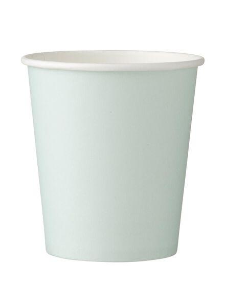 papieren bekertjes - 220 ml - mintgroen - 10 stuks - 14230035 - HEMA